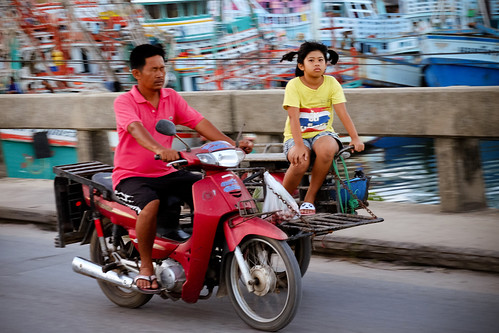 On the move. Khanom, Thailand, 2015