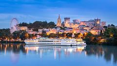 _DSC0809 - Avignon skyline (AlexDROP) Tags: 2018 europe avignon provence france art travel skyline architecture cathedral church color castle cityscape bluehour longexposure nikond750 afsnikkor28300mmf3556gedvr best iconic famous mustsee picturesque postcard hdr river