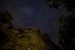 Capturing stars among ruins (rj.montes.g) Tags: castle night colors ruins summer stars contrast longexposure catalonia spain nature sky
