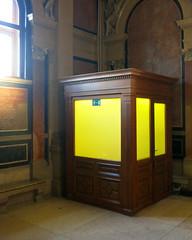 Living in a Box (Don Claudio, Vienna) Tags: börse büros ring wien vienna austria österreich büro foyer wiener schottenring theophil hansen yellow gelb
