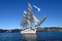DSC_7401 (yuhansson) Tags: фрегат херсонес море чёрное парусник крым паруса парус корабли корабль путешествие путешествия югансон юрий boat sea sky water vessel ship sailing новыйсвет судак