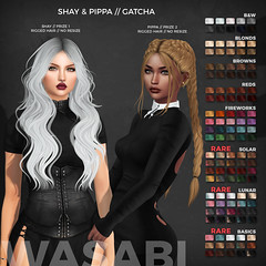 New Shay & Pippa hair @ The Epiphany! (Wasabi // Hair Store) Tags: 3d mesh hair secondlife wasabipills maitreya catwa aviglam deaddollz insol pixicat ikon pinkfuel justmagnetize punch