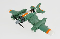 F11 - Locust (first version) (Sylon-tw) Tags: sylon sylontw skyfi dieselpunk dieselpulp engine aircraft airplane sky plane propeller sandgreen warplanes lego moc afol bricks seaplane