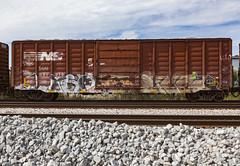 (o texano) Tags: houston texas graffiti trains freights bench benching wyse elk elkamino dts d30 a2m adikts