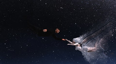 Fly With Me (KittyBlue Rae) Tags: secondlife space sky night photoshop dispersion dust couple love romantic flying
