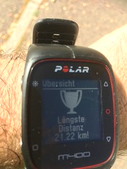 Running the halfmarathon distance for the first time (Dreisam Valley, Baden, Germany) (Loeffle) Tags: 092018 germany deutschland allemagne baden freiburg dreisamvalley dreisamtal running laufen halbmarathon halvmarathon polarm400