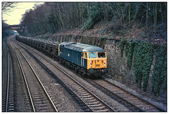 Presflo Grid (david.hayes77) Tags: presflo suttonbonnington rushcliffe notts nottinghamshire 1978 grid class56 56035 flyash cutting mml midlandmainline eastmidlands freight cargo railblue