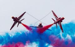 Break, break, go (SouthamptonPete) Tags: raf aircraft hawk team formation redarrows airshow duxfordairshows aerobatic duxford