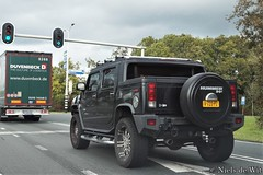2007 Hummer H2 SUT (NielsdeWit) Tags: nielsdewit car vehicle v720pz hummer h2 sut driving pickup black kesteren