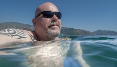 Swimming Selfie. (CWhatPhotos) Tags: cwhatphotos selfie pose portrait water me tg5 shades blue olympus digital camera photographs photograph pics pictures pic picture image images foto fotos photography artistic that have which with contain artistc beach seaside resort fun hol holiday september 2018 turkey holidays marmaris turkish various