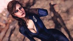 Omorfia (Vinovat.T) Tags: fallout fallout4 model beauty blueeyes portrait bokeh hair
