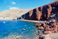 Red Beach, Akrotiri, Santorini. (Chanel Debono) Tags: santoini thera thira volcano caldera volcanic greece greekisland greekislands greek island islands cyclades aegean aegeansea hills cliffs sea beach beaches sand summer blue ferries hellenic hellenicseaways ferry trees cactus flower flowers gazebo hotel boats ships quadbike atv quads quadbikes bike windmill windmills maintown town holiday travel travelling lovegreece visitgreece greecetrip islandhopping discovergreece travelphotography canon canon600d canonphotography chaneldebono church churches traveler wanderlust travellingtheworld photography nature bluesky europe oia bluedomes dome bluedome redbeach akrotiri