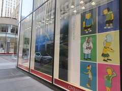 KAWS Crossover with The Simpsons Characters 3033 (Brechtbug) Tags: kaws crossover with the simpsons characters window christies auction house new york city nyc 10202018 next 30 rock rockefeller center 49th street west side manhattan jeff comic book guy dolph starbeam dr julius hibbert sideshow mel cletus spuckler edna krabappel design redesign architecture art gallery former artist brian donnelly his creation companion character x s for eyes head bones