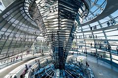 Spiral Bound (Sean Batten) Tags: berlin germany de europe glass reflection architecture building reichstag politics parliament city urban nikon d800 1424 bundestag