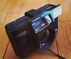 Yashica T AF + YT-CL close up lens (nefotografas) Tags: yashicataf carlzeisslens filmcamera 35mmfilm ytclcloseup attachment