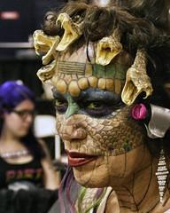 Eva Tiamat Baphomet Medusa @ United Ink 6/7/13 (Hardcore Shutterbug) Tags: unitedinksummervibetattooconventionnassaucoliseummessina