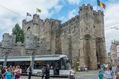 Castle of the Counts - Ghent, Belgium-01794 (gsegelken) Tags: belgium castle castleofthecounts ghent vantagetravel train