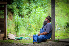 Resting - Hagood Mill - Pickens, S.C. (DT's Photo Site - Anderson S.C.) Tags: canon 6d 135mmf2l lens hagood mill pickenssc upstate country rural rfd summer august nap resting man relaxing southernlife southern america usa classic