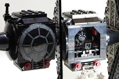 First Order TIE Fighter: Cockpit (Evrant) Tags: lego star wars tie fighter starfighter custom moc spaceship ship first order evrant