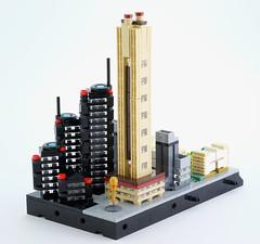 Lego micro city (district n.3) (guitar hero78) Tags: lego legocity microcity microscale moc legomoc fujifilm fujinon diorama xe1 xf60mm