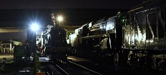 Great Central Railway Loughborough Leicestershire 23rd September 2018 (loose_grip_99) Tags: greatcentral railway railroad rail train leicestershire eastmidlands england uk britishrailways standard steam engine locomotive nighttime night darkness shadows lights shed mpd depot gwr greatwestern modified hall 460 6990 witherslackhall br 9f 2100 92214 d123 pea preservation transportation gassteam uksteam trains railways september 2018