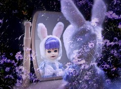 Into my Garden of purple Magic (pianocats16) Tags: eggzorcist purple hair flowers mirror child toy vintage living dead dolls doll autumn beautiful imagination resurrection