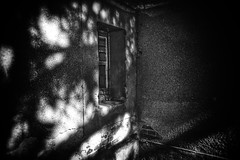 Shadows in the corner (LUMEN SCRIPT) Tags: textures blackandwhite monochrome opening window building wall shadow light abandoned abandonment old decay decaying derelict