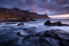 Klippies Bay Mountains (Konrad Blum) Tags: landscape rocks fujifilmxt2 westerncape sunset seascape sea water mountains ocean fujifilmxf1024mmf4 fujifilm southafrica klippiesbay clouds rock