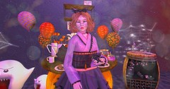 【witch's halloween】 (Sooyun Ichtama) Tags: secondlife sl halloween blackbantam chezmoi larnia since1975 antinatural ascendant bossie justmagnetized insomniaangel momochuu suicidalunborn truth thearcade theseasonsstory gachaland vanity limit8 gacha groupgift free cherryhouse