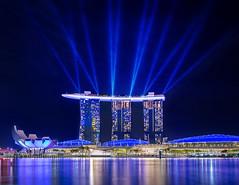 Marina Bay Sands Laser Show (kaddisudhi) Tags: sonya7riii bay bluehour cityscapes glitter glow laser lasershow marinabay marinabaysands mbs mirrorless night nightshots singapore sony sony1635mm water