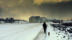 Sky of Fire (Gareth Priest) Tags: landscape silhouette portrait sunset snow iceland mood atmosphere