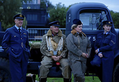 'Informal Gathering' (AndrewPaul_@Oxford) Tags: raf east kirkby lincolnshire aviation heritage centre aircrew royal air force 1940s reenactors reenactment environmental portrait natural light timeline events