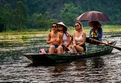 Sampan (Rod Waddington) Tags: vietnam vietnamese tamcoc river women sampan oars boat water group outdoor people culture