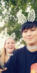 2018-10-18_10-52-47 (hyprsleepy) Tags: snapchat selfie couple transgender blond asian happy outdoors