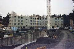 Bygget av Ståthållaren 5, bakre huskroppen rest