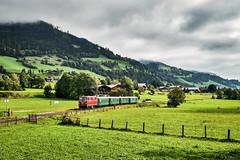 LAE_0465 (Hans-Peter Kurz) Tags: railway railroad reisen railscape eisenbahn zug train transport austria österreich outdoor pinzgau pinzgaubhan pinzgauer lokalbahn salzburger lokalbahnen slb plb salzburg schmalspurbahn kbs230 br2095 sonderzug vs72 diesellok stuhlfelden siedlung haltestelle bahnhof 120 jahre