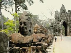 Angkor Siem, Reap,Cambodia 2009 (leonyaakov) Tags: cambodia siemreap history buddhism religion buddhisttemple unesco asia monument bridge gate angkor