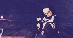 Chiller (luxfero_cain) Tags: halloween halloweencostume skeleton haunted bek blackeyedkid blackeyedchildren paranormal secondlife virtual virtualreality sl boy kid child youth boys digitalart cgi color skeletor skull bones dark fantasy play