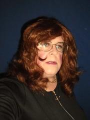 Superannuated College Co-ed (annad20061) Tags: redhead girly glasses tgirl dress crossdresser