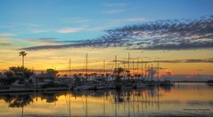 Midnight Getaway (Kathryn Louise18) Tags: canon kathrynlouise florida sunrise sunset seascape waterscape landscape marina peir sailboats boats roberthunterlyrics gratefuldeadlyrics edgewater newsmyrnabeach volusiacounty intercoastel