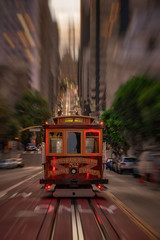 Rushing down (reinaroundtheglobe) Tags: sanfrancisco californiastreet california usa cablecar traffic rush motion motionblur city