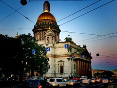 Saint Isaac's Cathedral | St. Petersburg (maryduniants) Tags: saint bluesky stisaacscathedral traffic holy church cathedral sobor nightlights russia stpetersburg stisaac