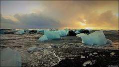 Ice Land (MKarolina) Tags: ice beach sand iceland ocean glacial lagoon