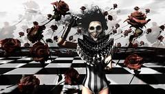 BOO!!! (tralala.loordes) Tags: tralalaloordes halloween flickrhalloween secondlife sl virtualreality vr secondlifeblogging ghoul rotrelic angharadgreggan wastelands therot rose cureless creepyclownguy clown monamore baroque anthrazit ro