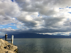 Lausanne (bertrandwaridel) Tags: 2018 alps autumn fall lakegeneva lakeleman lausanne lausanneouchy october ouchy switzerland vaud clouds lake sky water suisse