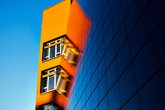 complementary at sun set (Marc R. A.) Tags: complementary composition building architecture blue orange lines simple minimalistic windows sky