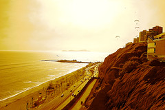 Costa Verde, Miraflores, Lima - Perú - Sepia (Ayarphotographer) Tags: beach beautiful burning city cityscape cliffs coast coastline green horizon hot landscape lima littoral marine maritime mighty miraflores nature ocean outdoors pacific panoramic paragliders peru picturesque pier radiate rocky saltwater scenery scenic sea seaboard seascape seashore seaside seaview sepia shore summer sun sunny sunset urban vacation view warm water waterfront deep blue briny liquid aquatic buildings structures bluff ravine dock road cars big radiating evening daylight sunlight alfresco outside open air landform geography geographic feature