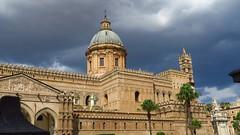 Palermo cathedral (ow54) Tags: sicilia sicily sizilien italien insel italy palermo cathedral kathedrale kirche chirch himmel kuppel europe europa eu wolken gewitterwolken