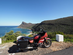 Touring The Southern Cape Peninsula (jan-krux photography - thx for 3 Mio+ views) Tags: smitswinkel bay bucht suthern peninsula cape south afrika suedafrika western westkap landschaft landscape motorbiking motorrad fahren berge mountains scenery roads strasse bmw 1981bmwr100rt red rot joy fun spass airhead boxer olympus omd em1mkii