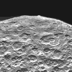 Ahuna Mons on Ceres, variant (sjrankin) Tags: 6november2018 edited nasa grayscale dawn ceres primage asteroid ahunamons mountain crater pia22769